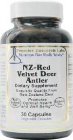NZ-Red Velvet Deer Antler, Premier Research Labs, (30 Vegetable Capsules)
